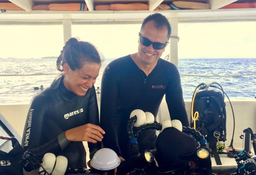 Con el director, Daniel Aldaya