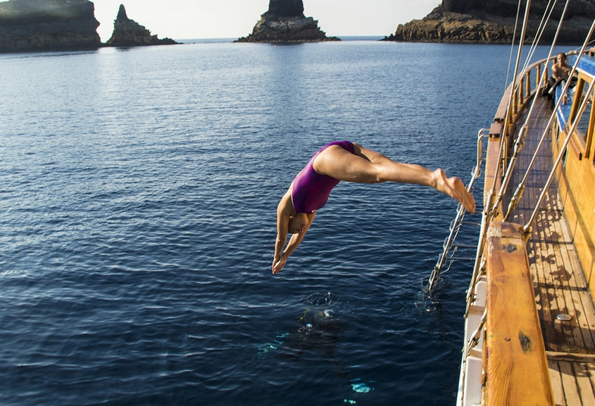 Islas Columbretes. Mar Mediterráneo.