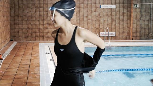 Apnea en piscina
